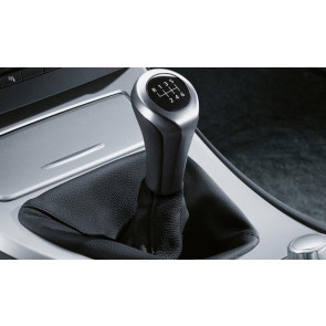 BMW Schaltknauf Leder Chromspange 6-Gang 1er E87 3er E46 E90 E91 E92 E93 5er E39 E60 E61 6er E63 E64 X1 E84 X3 E83 Z4 E85