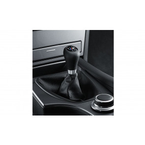 BMW M Leder-Sportschaltknauf 6-Gang 3er E46 5er E60 E61 LCI 6er E63 E64 LCI X3 F25 X4 F26