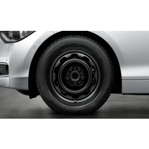 BMW Stahlfelge Styling 12 schwarz 7J x 16 ET 47 Vorderachse / Hinterachse 3er E46