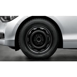 BMW Stahlfelge Styling 12 schwarz 7J x 16 ET 44 Vorderachse / Hinterachse 1er E81 E82 E87 E88