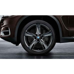 BMW Kompletträder Sternspeiche 128 liquid black 21 Zoll X5 F15 X6 F16 RDCi
