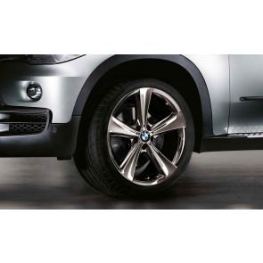 BMW Kompletträder Sternspeiche 128 midnight chrom 21 Zoll X6 E71 (Mischbereifung)