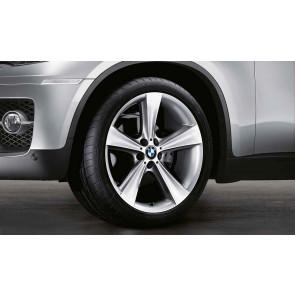 BMW Alufelge Sternspeiche 128 silber 11,5J x 21 ET 38 Hinterachse X6 E71 E72