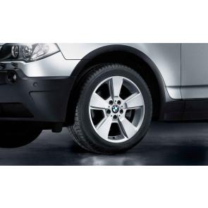 BMW Kompletträder Sternspeiche 143 silber 18 Zoll X3 E83