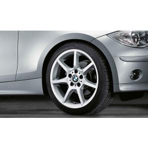 BMW Alufelge Sternspeiche 180 8J x 18 ET 49 Silber Hinterachse BMW 1er E81 E87