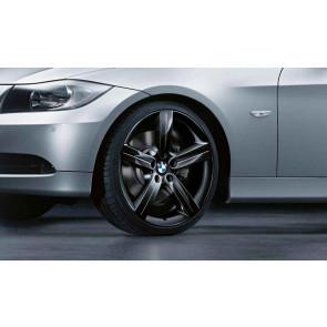BMW Alufelge Sternspeiche 199 schwarz 9J x 19 ET 39 Hinterachse 3er E90 E91 E92 E93