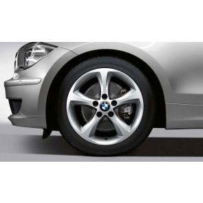 BMW Kompletträder Sternspeiche 256 silber 17 Zoll 1er E81 E82 E87 E88