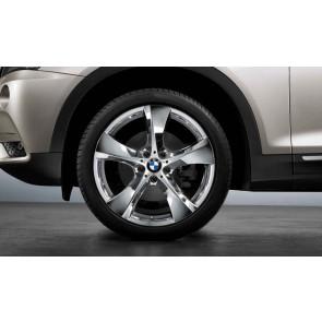 BMW Kompletträder Sternspeiche 311 chrom 20 Zoll X3 F25 X4 F26 (Mischbereifung)