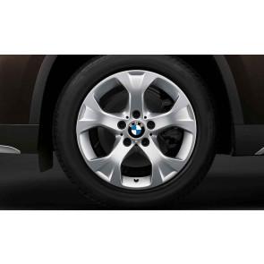BMW Winterkompletträder Sternspeiche 317 reflexsilber 17 Zoll X1 E84