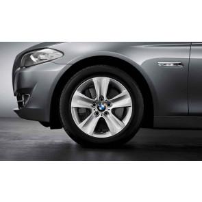 BMW Winterkompletträder Sternspeiche 327 reflexsilber 17 Zoll 5er F10 F11 6er F06 F12 F13 RDC LC