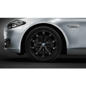 BMW Winterkompletträder Sternspeiche 365 schwarz 18 Zoll 5er F10 F11 6er F06 F12 F13 RDC LC (ab Baujahr 03/2014)