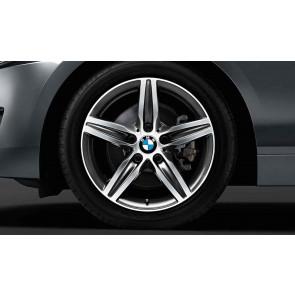 BMW Winterkompletträder Sternspeiche 379 bicolor (orbitgrey / glanzgedreht) 17 Zoll 1er F20 F21 2er F22 F23