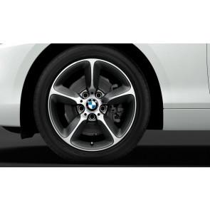 BMW Alufelge Sternspeiche 382 bicolor (spacegrau / glanzgedreht) 7,5J x 17 ET 43 Vorderachse / Hinterachse 1er F20 F21 2er F22 F23