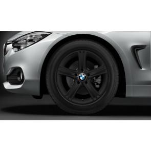 BMW Winterkompletträder Sternspeiche 393 schwarz 17 Zoll 3er F30 F31 4er F32 F33 F36 RDCi