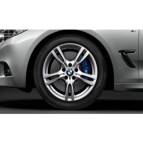 BMW Kompletträder M Sternspeiche 400 silber 18 Zoll 3er F30 F31 4er F32 F33 F36 RDCi
