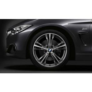 BMW Alufelge Sternspeiche 407 bicolor (ferricgrey / glanzgedreht) 8,5J x 19 ET 47 Hinterachse 3er F30 F31 4er F32 F33 F36