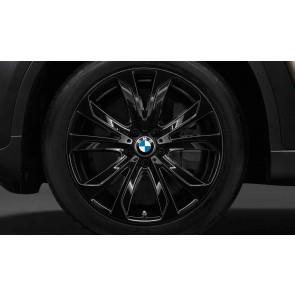 BMW Winterkompletträder Sternspeiche 491 schwarz glänzend 20 Zoll X5 E70 F15 X6 F16 RDCi