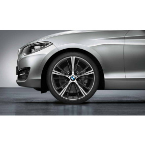 BMW Alufelge Sternspeiche 660 bicolor (orbitgrey / glanzgedreht) 8J x 19 ET 52 Hinterachse 1er F20 F21 2er F22 F23