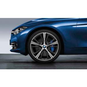 BMW Alufelge Sternspeiche 660 bicolor (orbitgrey / glanzgedreht) 8,5J x 20 ET 47 Hinterachse 3er F30 F31 4er F32 F33 F36