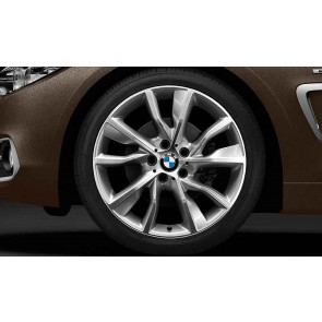 BMW Alufelge Turbinenstyling 402 bicolor (silber/glanzgedreht) 8J x 19 ET 36 Vorderachse 3er F30 F31 4er F32 F33 F36