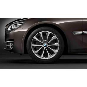BMW Kompletträder Turbinenstyling 452 bicolor (ferricgrey / glanzgedreht) 18 Zoll 5er F10 F11 6er F06 F12 F13