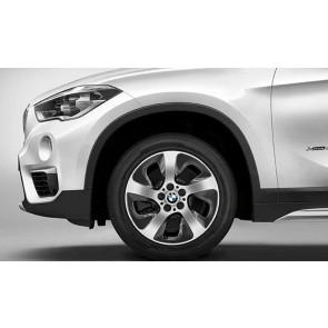 BMW Alufelge Turbinenstyling 561 schwarz glänzend 7,5J x 17 ET 52 17 Zoll Vorderachse / Hinterachse (rechte Fahrzeugseite) X1 F48 X2 F39