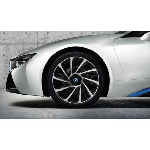 BMW Alufelge Turbinenstyling 625 bicolor (schwarz / glanzgedreht) 7,5J x 20 ET 40 Vorderachse / Hinterachse linke Fahrzeugseite i8