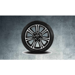 MINI Alufelge Twin Spoke Black R135 7,5J x 18 ET 52 Schwarz Vorderachse / Hinterachse MINI R60 R61