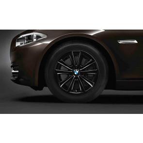 BMW Alufelge V-Speiche 236 schwarz 8J x 17 ET 30 Vorderachse / Hinterachse 5er F10 F11 6er F06 F12 F13