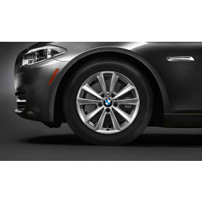 BMW Kompletträder V-Speiche 236 silber 17 Zoll 5er F10 F11 6er F06 F12 F13
