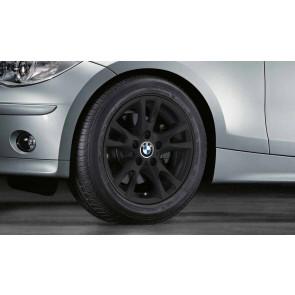BMW Kompletträder V-Speiche 255 schwarz matt 16 Zoll 1er E81 E82 E87 E88