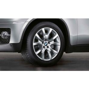 BMW Winterkompletträder V-Speiche 257 silber 19 Zoll X6 E71