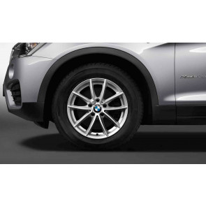 BMW Winterkompletträder V-Speiche 304 silber 17 Zoll X3 F25 X4 F26 RDC LC