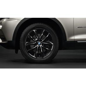 BMW Kompletträder V-Speiche 307 schwarz 18 Zoll X3 F25 X4 F26