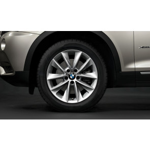 BMW Winterkompletträder V-Speiche 307 reflexsilber 18 Zoll X3 F25 X4 F26 RDC LC