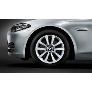 BMW Alufelge V-Speiche 328 silber 8J x 18 ET 30 Vorderachse / Hinterachse 5er F10 F11 6er F06 F12 F13