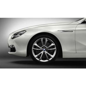 BMW Alufelge V-Speiche 366 silber 9J x 19 ET 44 Vorderachse / Hinterachse BMW 5er F10 6er F06 F12 F13
