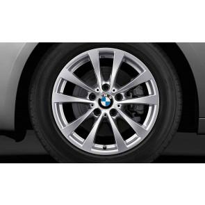 BMW Winterkompletträder V-Speiche 395 reflexsilber 17 Zoll 3er F30 F31 4er F32 F33 F36 RDCi