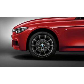 BMW Alufelge V-Speiche 398 orbitgrey 8,5J x 18 ET 47 Hinterachse 3er F30 F31 4er F32 F33 F36