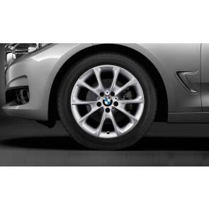 BMW Alufelge V-Speiche 398 silber 8J x 18 ET 34 Vorderachse / Hinterachse 3er F30 F31 F34 4er F32 F33 F36