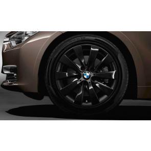 BMW Alufelge V-Speiche 413 schwarz 7,5J x 17 ET 37 Vorderachse / Hinterachse 3er F30 F31 4er F32 F33 F36