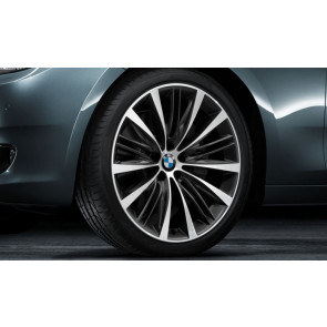 BMW Kompletträder V-Speiche 463 bicolor (ferricgrey / glanzgedreht) 21 Zoll 5er F07 7er F01 F02 F04 RDC LC