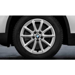 BMW Winterkompletträder V-Speiche 560 reflexsilber 17 Zoll X1 F48 X2 F39 RDCi