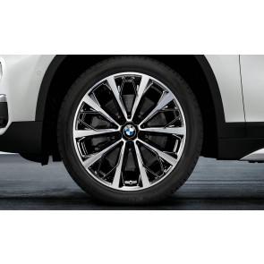 BMW Kompletträder V-Speiche 573 bicolor (schwarz / glanzgedreht) 19 Zoll X1 F48 X2 F39