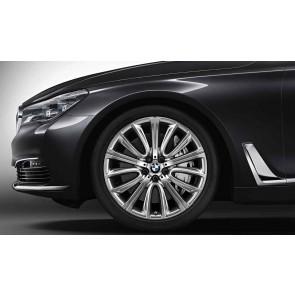 BMW Alufelge V-Speiche 628 bicolor (ferricgrey / glanzgedreht) 8,5J x 20 ET 25 Vorderachse 6er G32 7er G11 G12