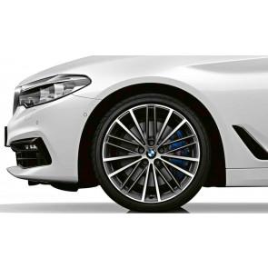 BMW Kompletträder V-Speiche 635 bicolor (orbitgrey / glanzgedreht) 19 Zoll 5er G30 G31 RDCi (Mischbereifung)