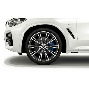 BMW Alufelge V-Speiche 726 bicolor (orbitgrey / glanzgedreht) 8,5J x 21 ET 30 Vorderachse X3 G01 X4 G02