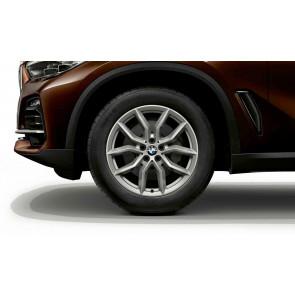BMW Alufelge V-Speiche 734 reflexsilber 9J x 19 ET 38 Vorderachse / Hinterachse X5 G05 X6 G06
