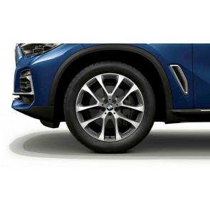 BMW Alufelge V-Speiche 738 bicolor (ferricgrey / glanzgedreht) 10,5J x 20 ET 40 Hinterachse X5 G05 X6 G06