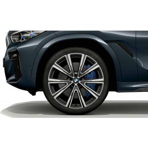 BMW Alufelge V-Speiche 746 orbitgrey 10,5J x 22 ET 43 Hinterachse X5 G05 X6 G06